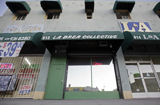 The exterior of the La Brea Collective medical marijuana dispensary is seen in Los Angeles Tuesday, Nov. 17, 2009.