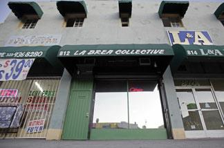 The exterior of the La Brea Collective medical marijuana dispensary is seen in Los Angeles Tuesday, Nov. 17, 2009.