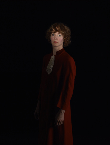 Catherine Opie's portrait of Miranda July, 2013. Pigment print. 33 × 25 in. (83.8 × 63.5 cm). Courtesy of the artist and Regen Projects, Los Angeles. ©Catherine Opie, courtesy of Regen Projects, Los Angeles and Lehmann Maupin, New York & Hong Kong.