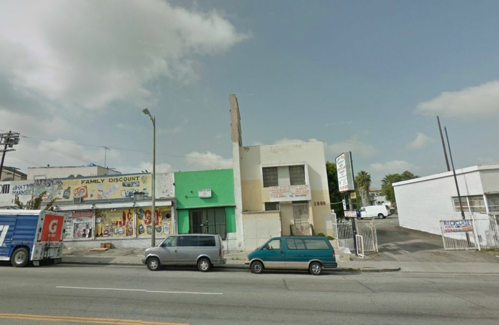 A Google Maps screen shot of the Prince of Peace church, at 1800 Beverly Blvd., Los Angeles, CA.