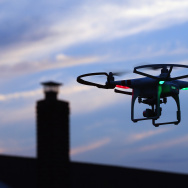 A drone is flown for recreational purposes in the sky above Old Bethpage, New York on August 30, 2015. A new FAA registry that requires owners to sign up is nearing.