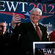 GOP Candidate Newt Gingrich Holds Primary Night Gathering