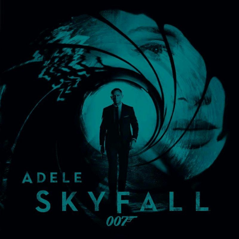 "The cover art of the Adele single ""Skyfall"", released in time for the James Bond Day celebration"