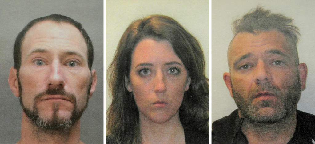 Prosecutors charged Johnny Bobbitt (from left), Katelyn McClure and Mark D'Amico with second degree theft by deception and conspiracy to commit theft by deception on Thursday for fabricating a feel-good story to launch a fundraising campaign that drew more than $400,000 in donations.