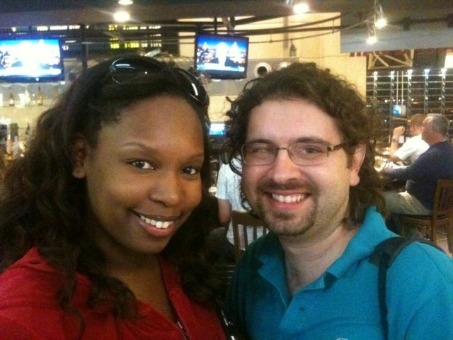 Brian and Courtney Turner at Los Angeles International Airport, on Sunday, May 1, 2011, shortly after learning of Osama bin Laden's death.