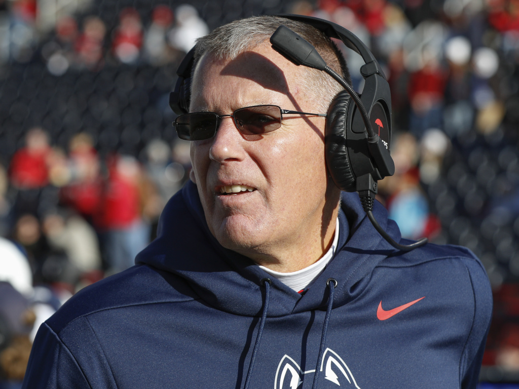 Connecticut Huskies coach Randy Edsall and his players will not be taking the field this fall. Citing