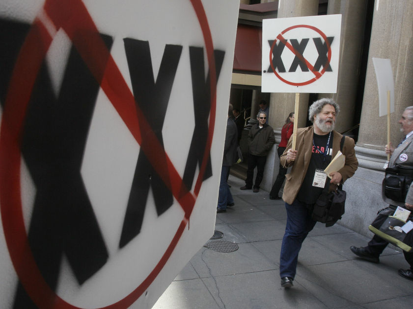 Members of the adult entertainment industry and its trade groups gathered in San Francisco in March to oppose the creation of a separate Internet address for adult entertainment websites.