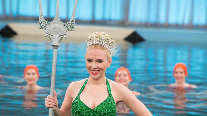 Scarlett Johansson and Aqualillies in the Coen brothers movie,