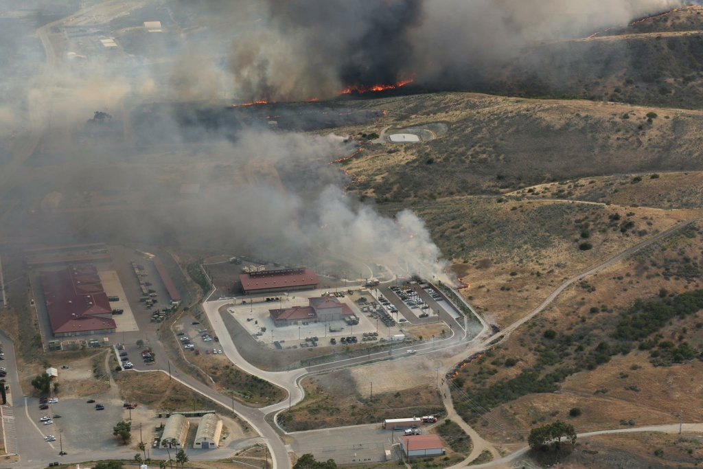 Three wildfires continued to burn Monday at Camp Pendleton in San Diego County.