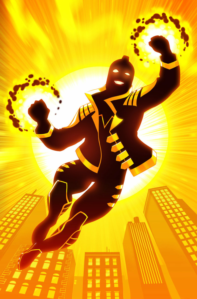 Variant cover of Justice League of America: The Ray: Rebirth #1; art by Stephen Byrne.