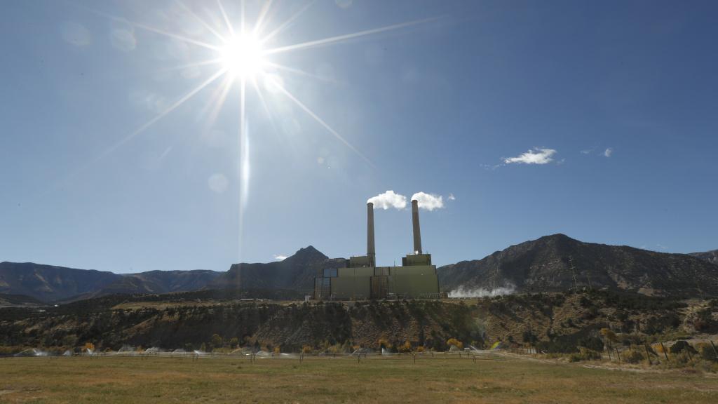 A coal-fired power plant on outside Huntington, Utah.