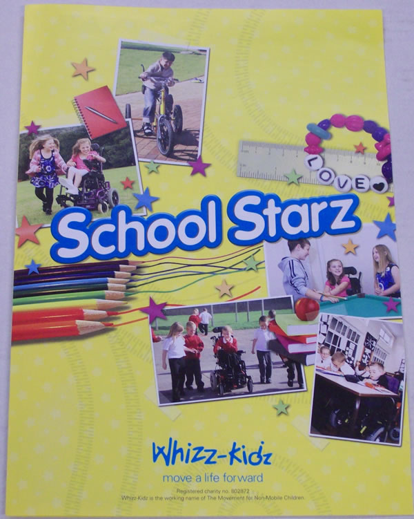 A Schools Fundraising pack from Whizz-Kidz.