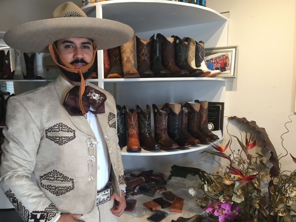 Francisco Galvez dons the full Charro suit.