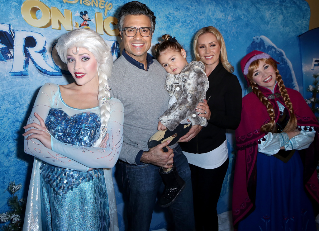 Elsa, Jaime Camil, Elena Camil, Heidi Balvanera and Anna arrive at the Los Angeles Premiere of Disney On Ice: Frozen at the Staples Center on December 10, 2015.