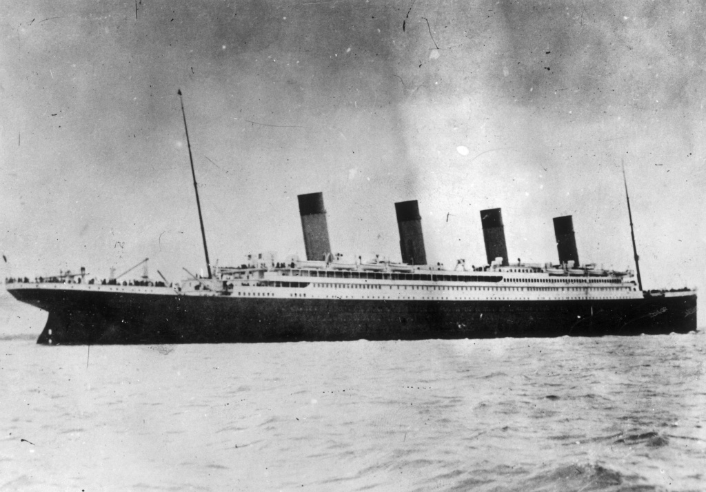 1912:The ill-fated White Star liner RMS Titanic, which struck an iceberg and sank on her maiden voyage across the Atlantic.
