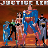 "The lineup from the ""Justice League"" animated series."