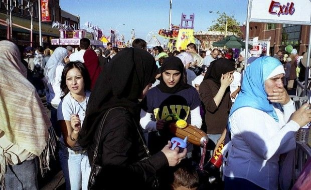 The crowd at Dearborn, Michigan's International Arab Festival, July 2006