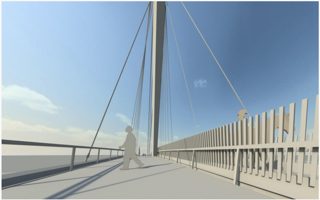The planned North Atwater bridge will feature two decks — one for equestrian use, the other for pedestrian and bike traffic.
