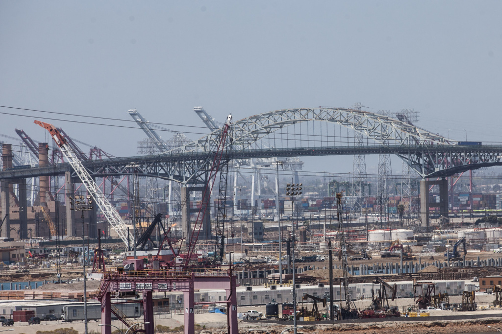 The Gerald Desmond Bridge linking the ports of Los Angeles and Long Beach will be torn down.