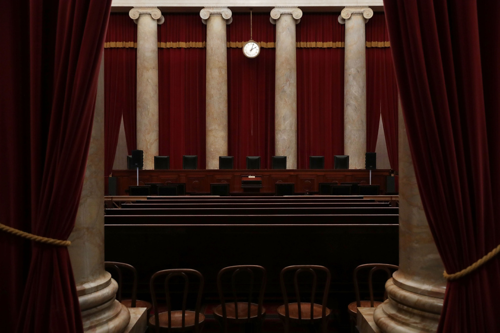 The courtroom of he U.S. Supreme Court  is seen September 30, 2016 in Washington, DC.