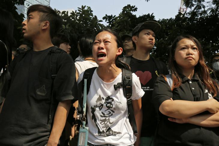 Protester in Hong Kong