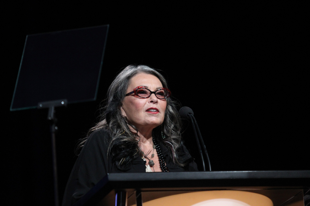 Comedian Roseanne Barr speaks at the Beverly Hilton on July 27, 2011 in Beverly Hills, California.