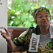 Liberia's President Ellen Johnson Sirlea