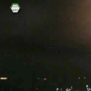 An image taken from video obtained from the Ugarit News, which has been authenticated based on its contents and other AP reporting, shows an airstrike hitting the area around Damascus, Syria, early Sunday.