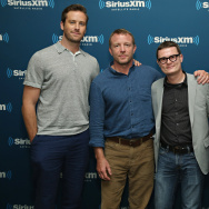 Actor Armie Hammer, director Guy Ritchie, Entertainment Weekly senior writer Kyle Anderson and actor Henry Cavill pose for a photo during SiriusXM's Entertainment Weekly Radio 'The Man from U.N.C.L.E.' Town Hall with Guy Ritchie, Henry Cavill and Armie Hammer on August 12, 2015 in New York City