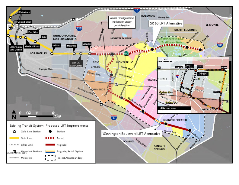 Map Public Weighs In On Dueling Plans For Gold Line S Eastside