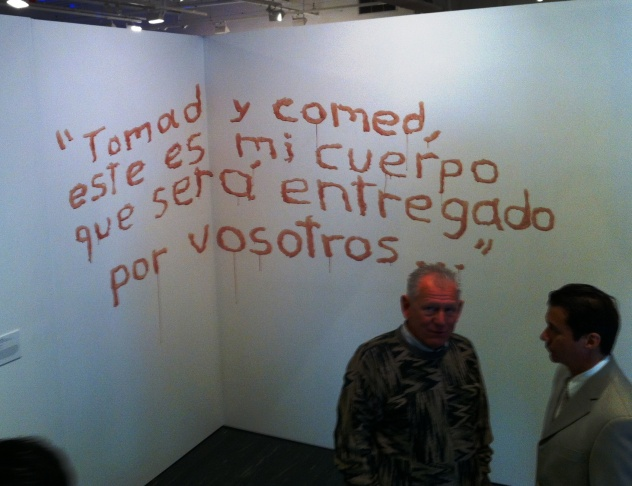 At the opening of MexiCali Biennial at Vincent Price Art Museum