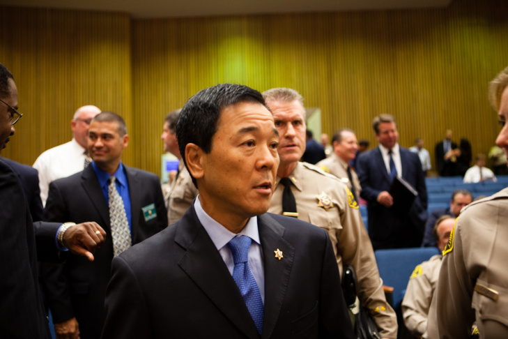 Undersherrif Paul Tanaka prepares to testify in front of the Citizens Commission on Jail Violence on Friday, July 27, 2012. The commission was formed by the LA County Board of Supervisors to investigate allegations of abuse at county jails.