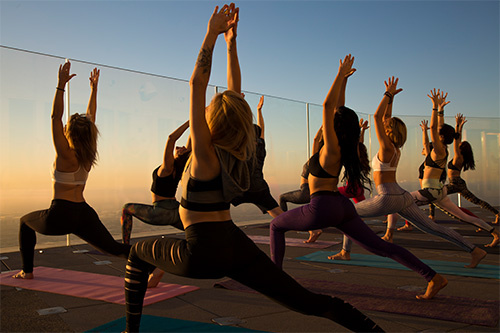 OUE Skyspace LA - National Women's Health and Fitness Day Yoga