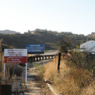 A road leading to Santa Susana Fields.