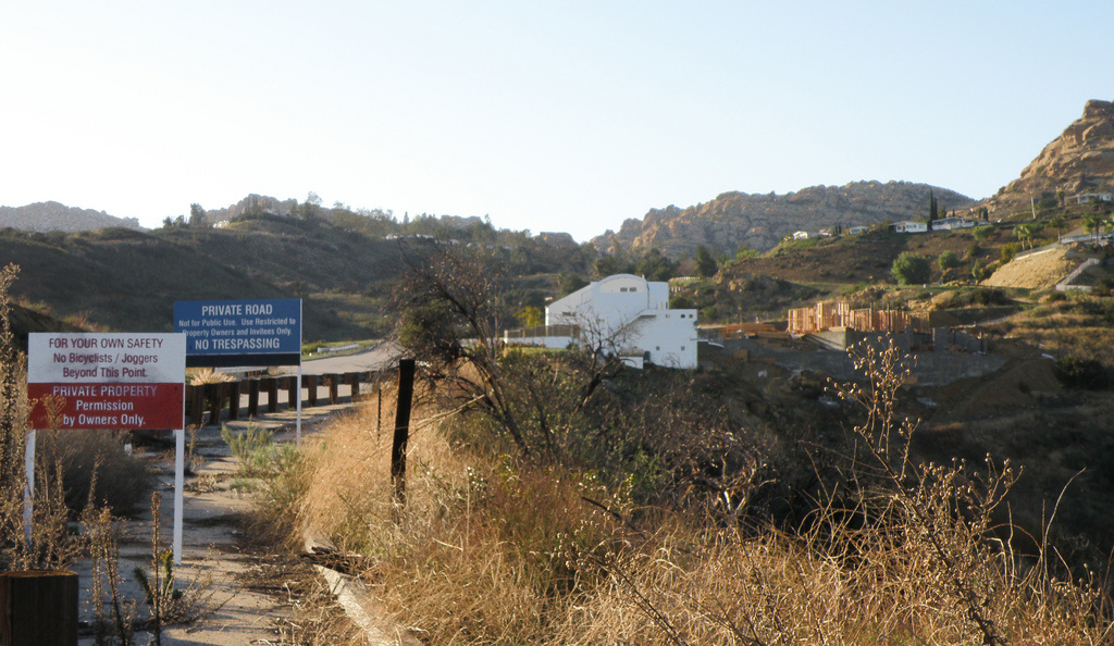Woolsey Canyon Road leads to the Santa Susana Field Laboratory.