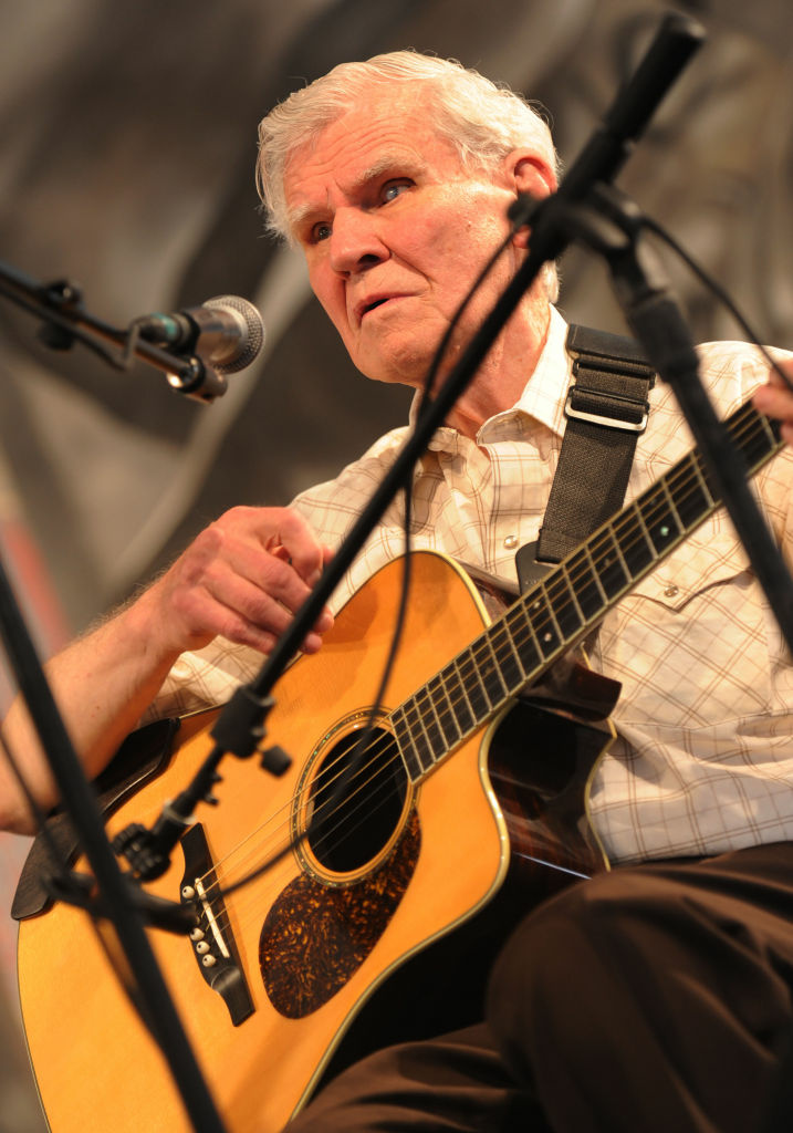 Recording artist Doc Watson performs at the 2009 New Orleans Jazz & Heritage Festival at the Fair Grounds Race Course on May 1, 2009 in New Orleans.