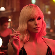 "Charlize Theron in ""Atomic Blonde."""