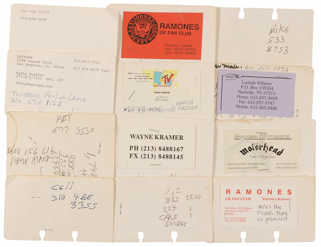 """Joey Ramone's personal passport, number 061041624, issued on September 9, 1986. Passport measures 3.5 x 5, and contains his printed personal information on the inside front cover, signed on the adjoining page in black ink with his real name, """"Jeff Hyman."""""""
