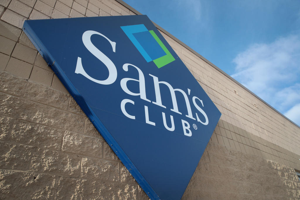 File: A sign hangs outside a Sam's Club store on Jan. 12, 2018 in Streamwood, Illinois.