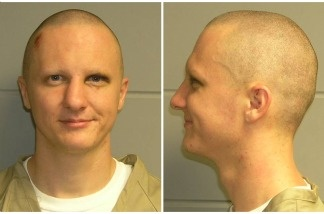 This is a combo of photos of Jared Loughner the U.S. Marshal's Service released Feb. 22, 2011. The photo was taken in Phoenix while Loughner was in the agency's custody.