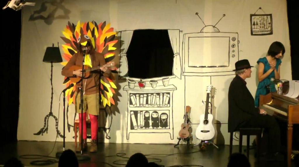 A screenshot from Matt Micucci's Thanksgiving Song video.