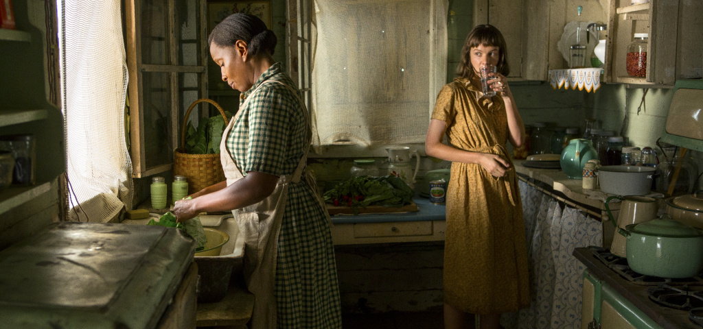 Mary J. Blige, left, and Carey Mulligan in a scene from