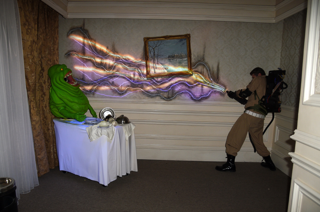The Ghostbusters maze at Halloween Horror Nights at Universal Studios Hollywood on September 12, 2019 in Universal City, California.