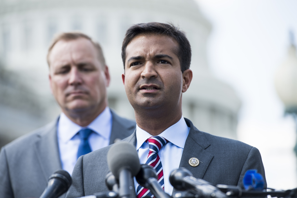 U.S. Rep. Carlos Curbelo, R-Fla., holds a news conference on immigration reform Wednesday at the Capitol. Curbelo is seeking to circumvent Republican leaders to bring an immigration bill to the House floor.