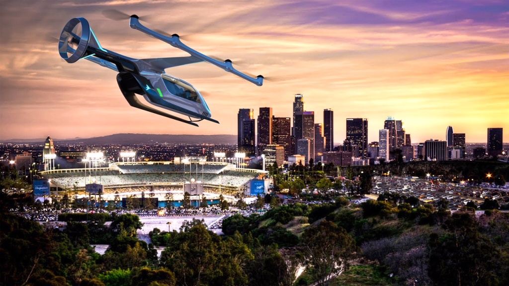 Uber partner, Embraer, showed its first electric vertical takeoff and landing vehicle. Developed with extensive input from potential urban air travelers about their desired experience, it's one of several designs Uber is considering for a flying version of its popular ride-hail service.