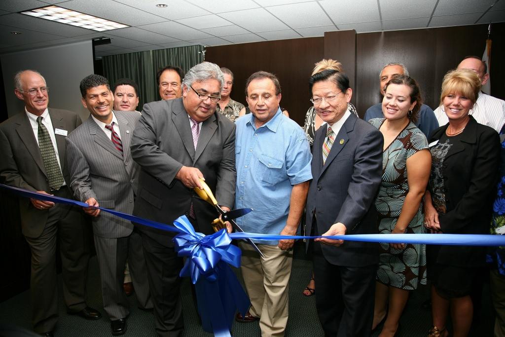 State Senator Ron Calderon helped open the Central Basin Municipal Water District's new headquarters in 2008.