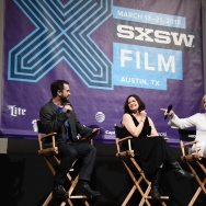 """Ally Sheedy, center, and Molly Ringwald at 30th anniversary screening of """"The Breakfast Club"""" at the 2015 SxSW Film Festival."""