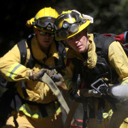 Fire Fighters Train In California Ahead Of Wildfire Season