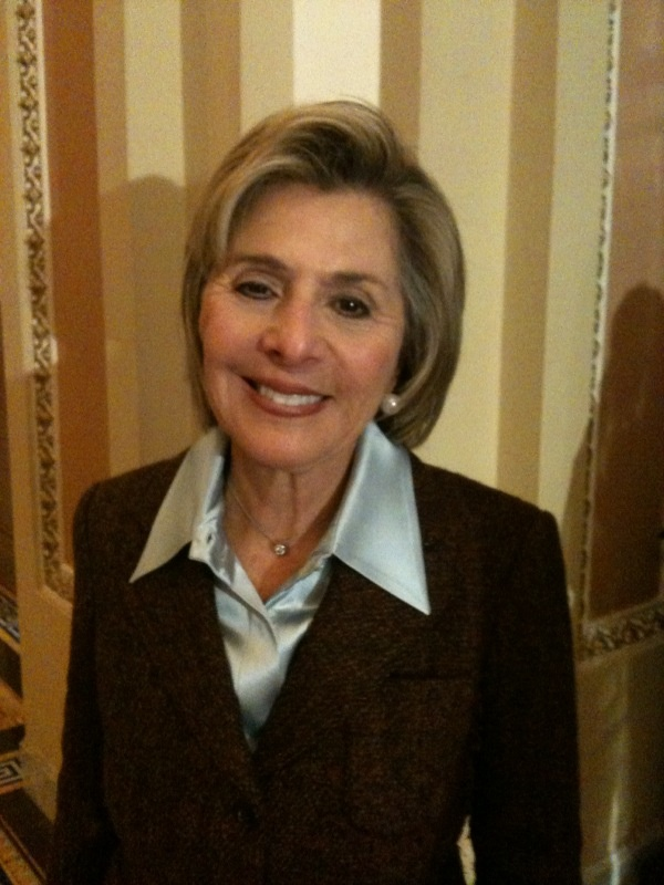 Senator Boxer after being sworn in for her fourth term in office
