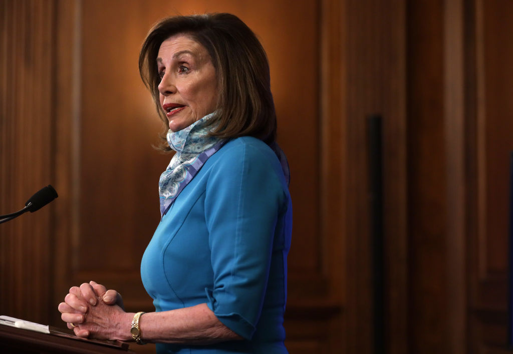 U.S. Speaker of the House Rep. Nancy Pelosi (D-CA) speaks during a weekly news conference at the U.S. Capitol May 7, 2020 in Washington, DC.